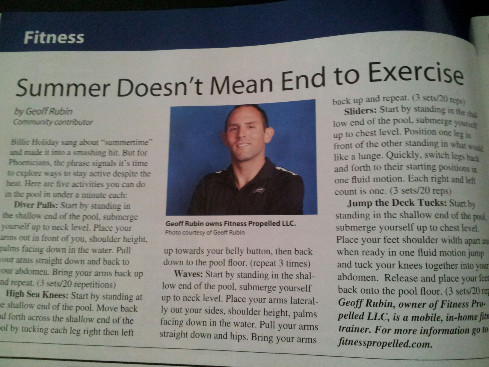 Summer doesn't mean an end to exercise