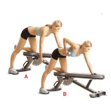 Bent-over one arm dumbbell rows